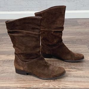 St Johns Bay Jamie brown suede mid calf boots